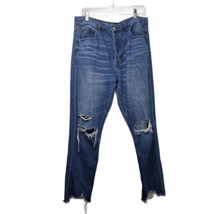 American Eagle Hi Rise button fly Girlfriend jeans